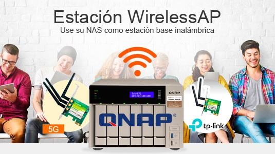 QNAP - NAS Estación WirelessAP